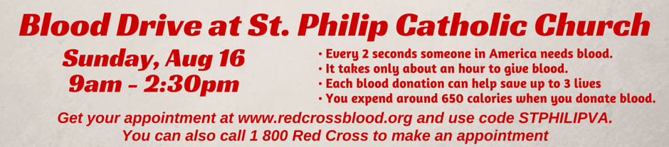 Blood Drive August 16