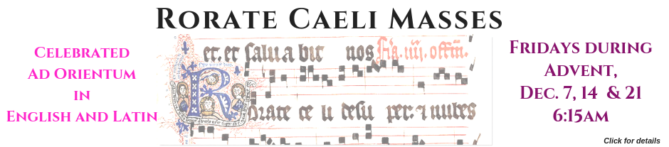 Rorate Caeli Masses only during Advent